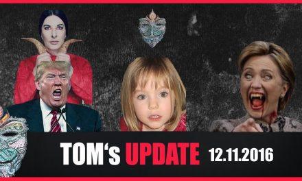 Tom's Update #9 (12.11.2016) Clinton's & Trump Teil eines rituellen Pädophilennetzwerkes?! #Maddie
