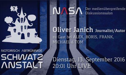 NASA No 6 –  Zu Gast Oliver Janich – US/EU Marionetten | Freie Energie | Geheimbünde & -armeen