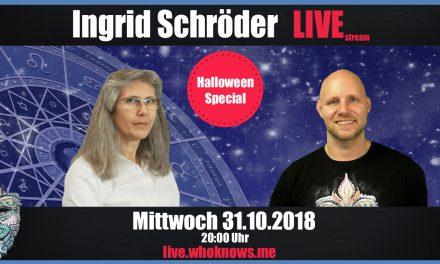 🔴 Ingrid Schröder Live! – Vedische Astrologie & Halloween/Samhain Special