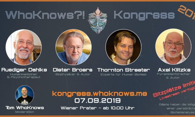 🔷 #WhoKnows?! Kongress 2019 🔷 Dahlke – Broers – Streeter – Klitzke am 07.09.2019 in Wien 🔷