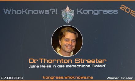 Thornton Streeter zu Gast beim WhoKnows?! Kongress 2019 am 07.09.2019 in Wien