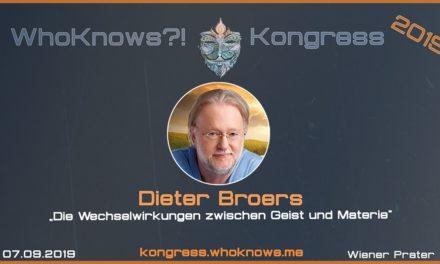 Dieter Broers zu Gast beim WhoKnows?! Kongress 2019 am 07.09.2019 in Wien