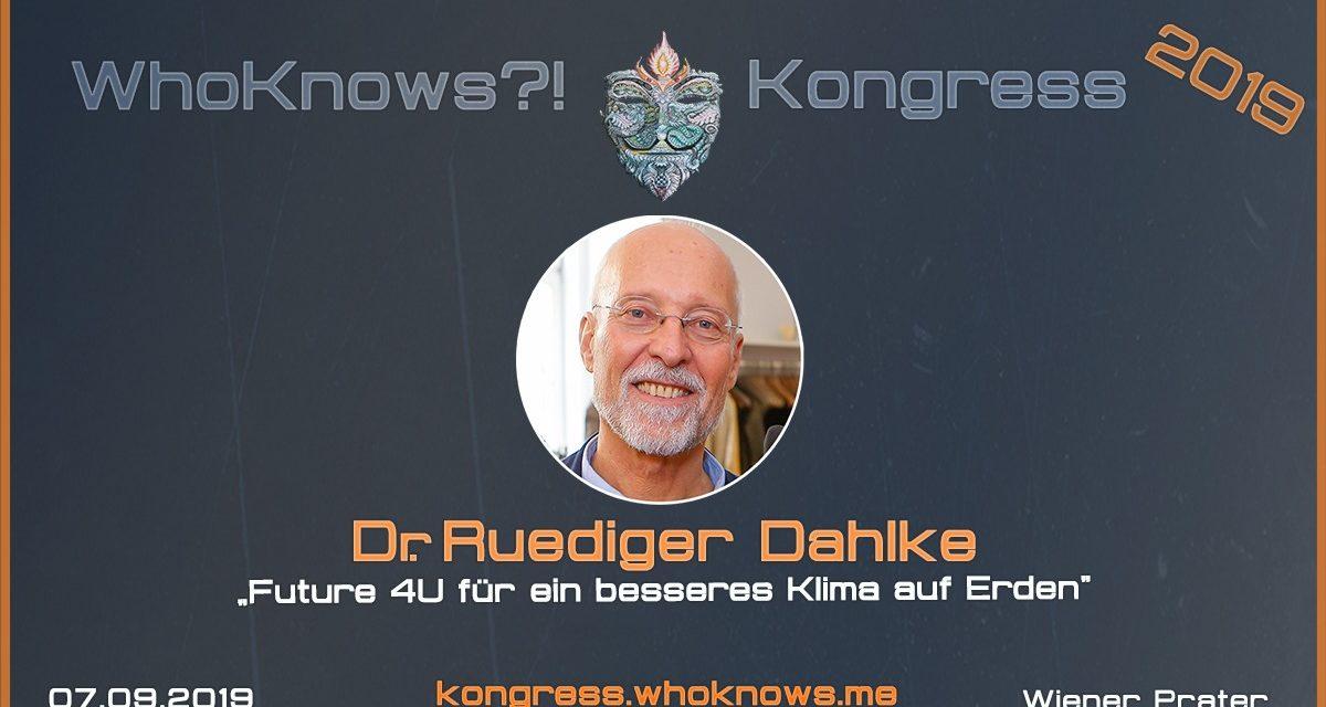 Dr. Ruediger Dahlke zu Gast beim WhoKnows?! Kongress 2019 am 07.09.2019 in Wien