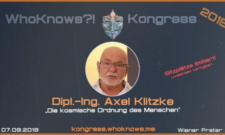 Axel Klitzke zu Gast beim WhoKnows?! Kongress 2019 am 07.09.2019 in Wien