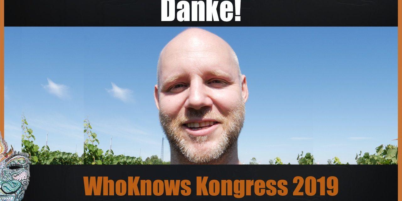 DANKE! Erfolgreicher WhoKnows?! Kongress 2019 + 20k Youtube Abonnenten