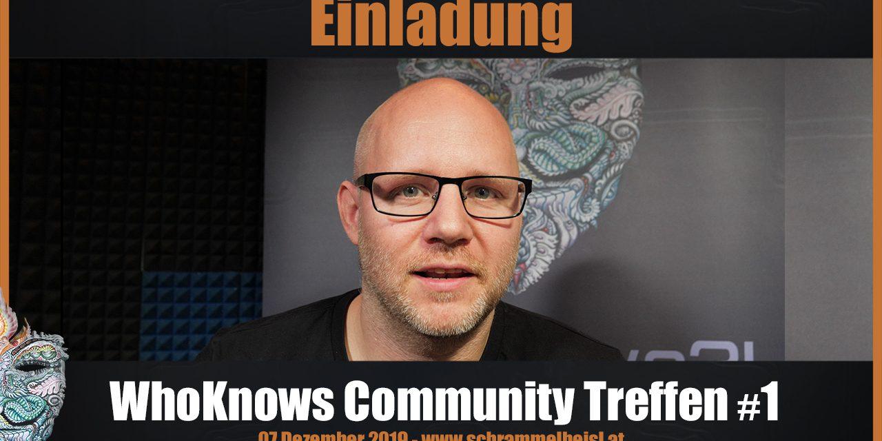 Einladung: WhoKnows Community Treffen #1 am 07.12.19 in Wien!